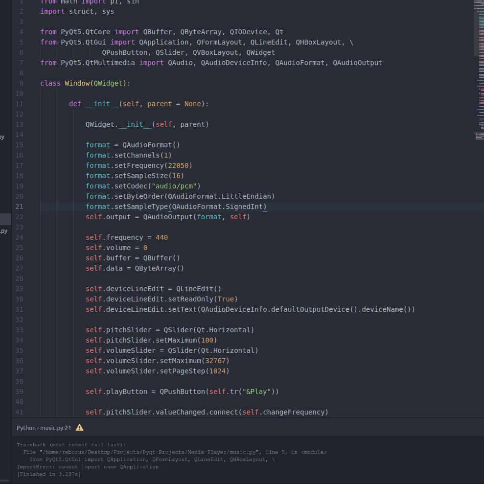 How to import QtMultimedia module in ubuntu 16 04 in a