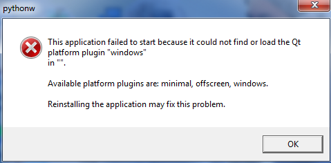 Application can't start because could not find or load Qt
