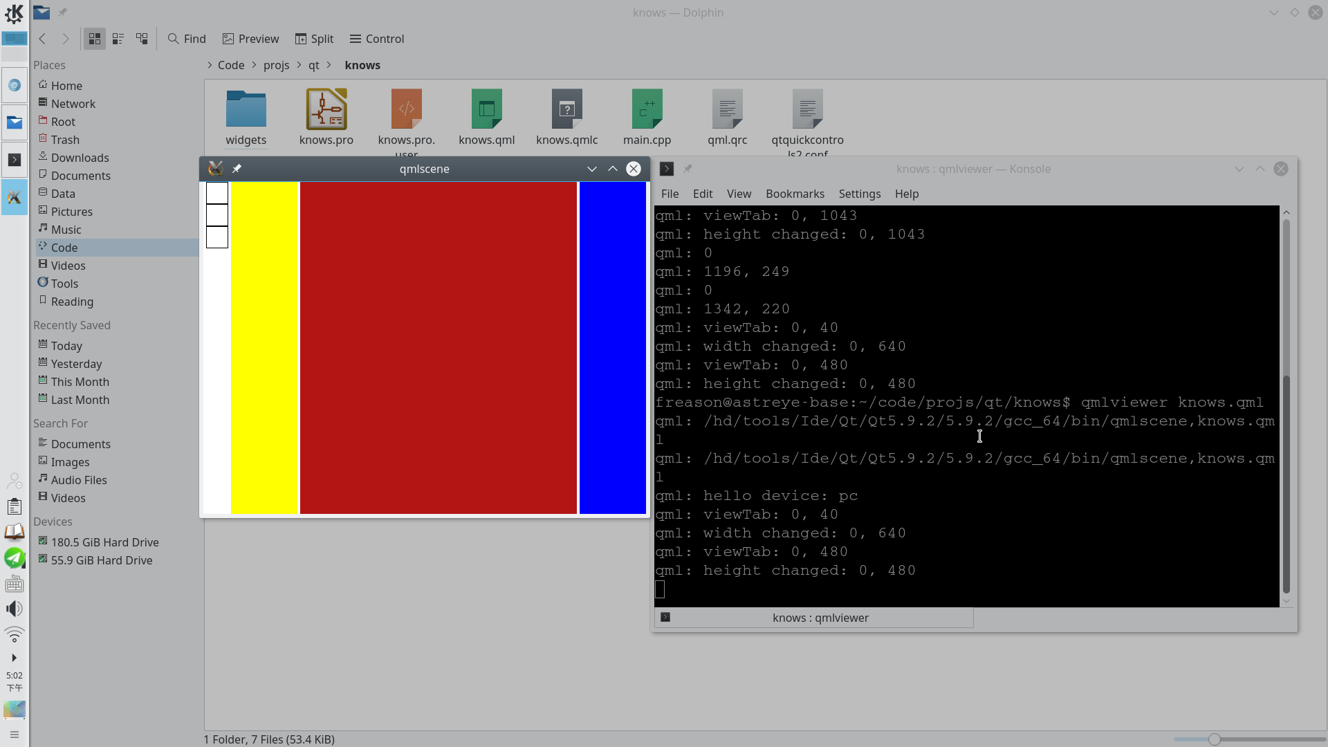 it seams that since Qt5 7, QML repaint incorrectly on