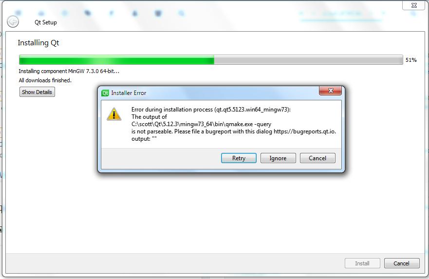 Install Error :