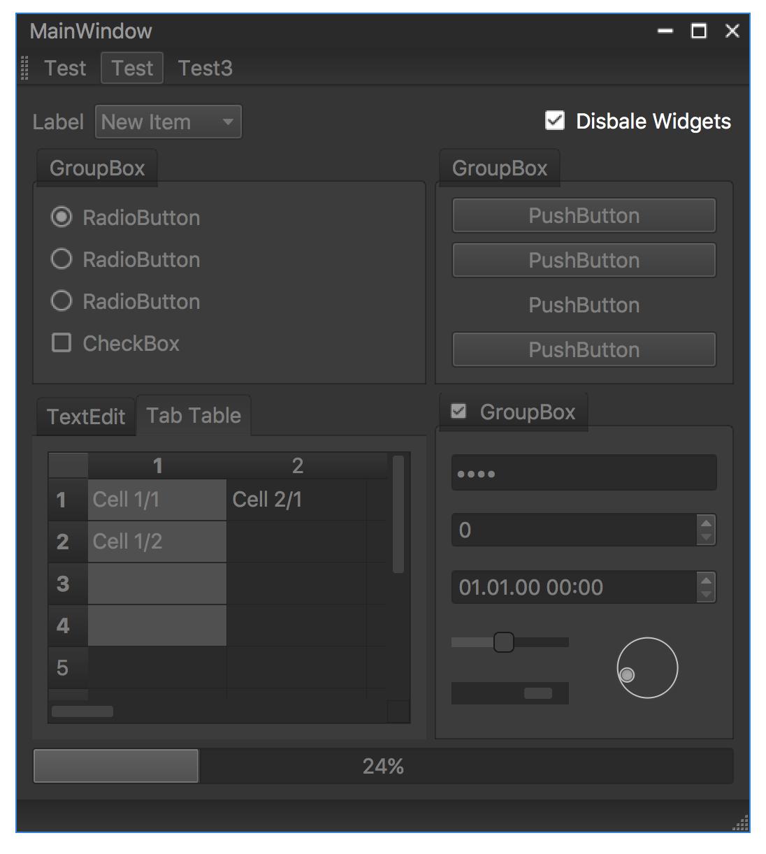 screenshot qt frameless window with custom dark style - mac disabled