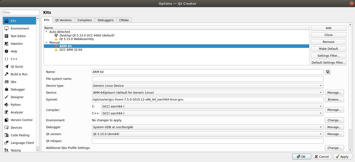 qt embedded jetson xavier   Qt Forum