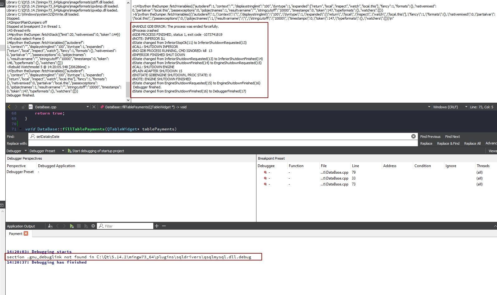 gdb errors.jpg
