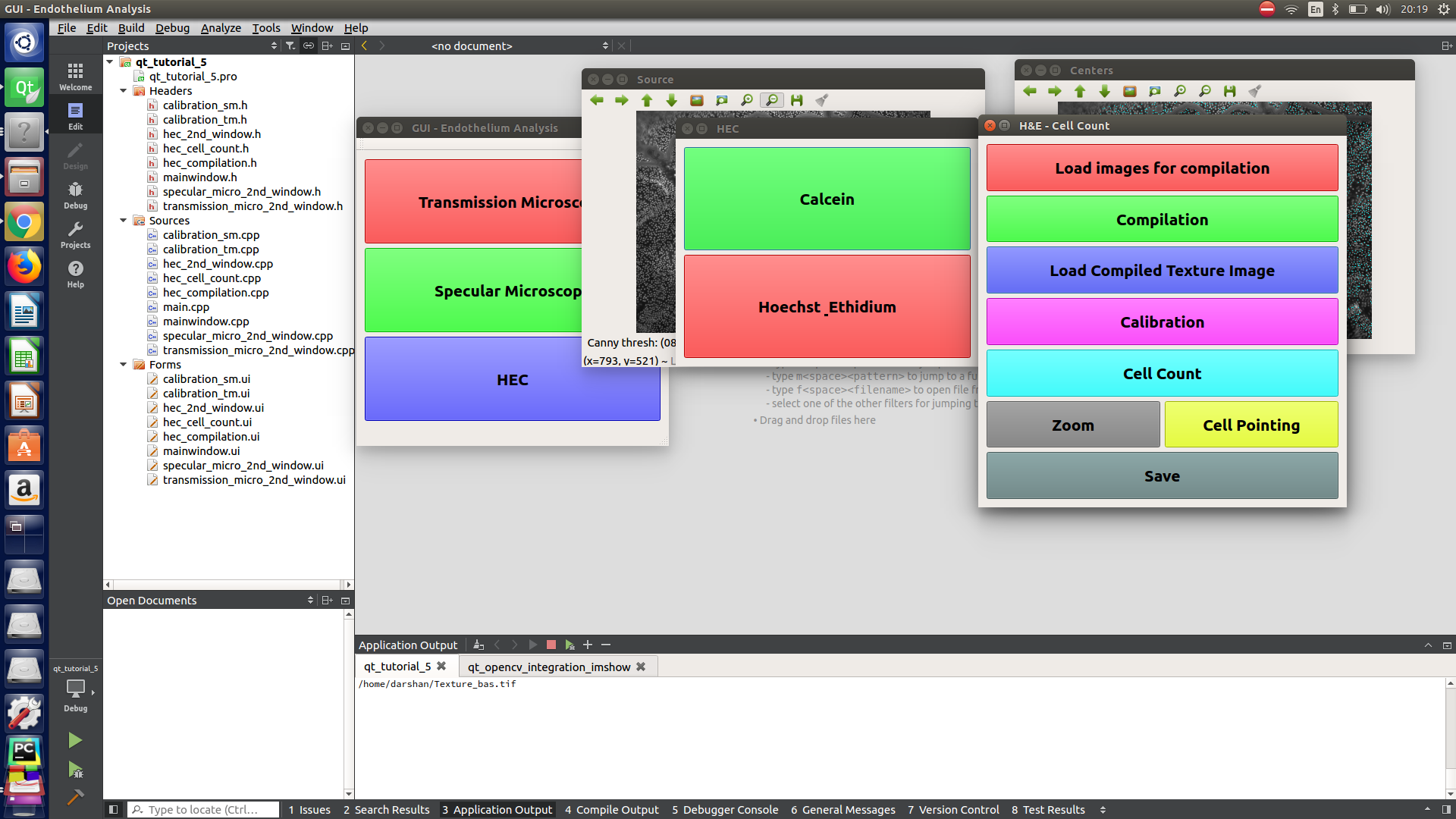 Moving the opencv window on top Qt(c++) dialogs/widgets | Qt